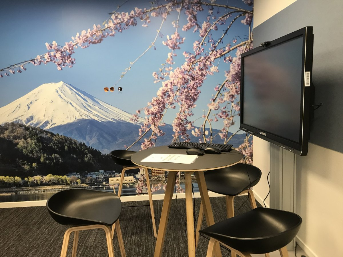 SSB scrum room Mount Fuji